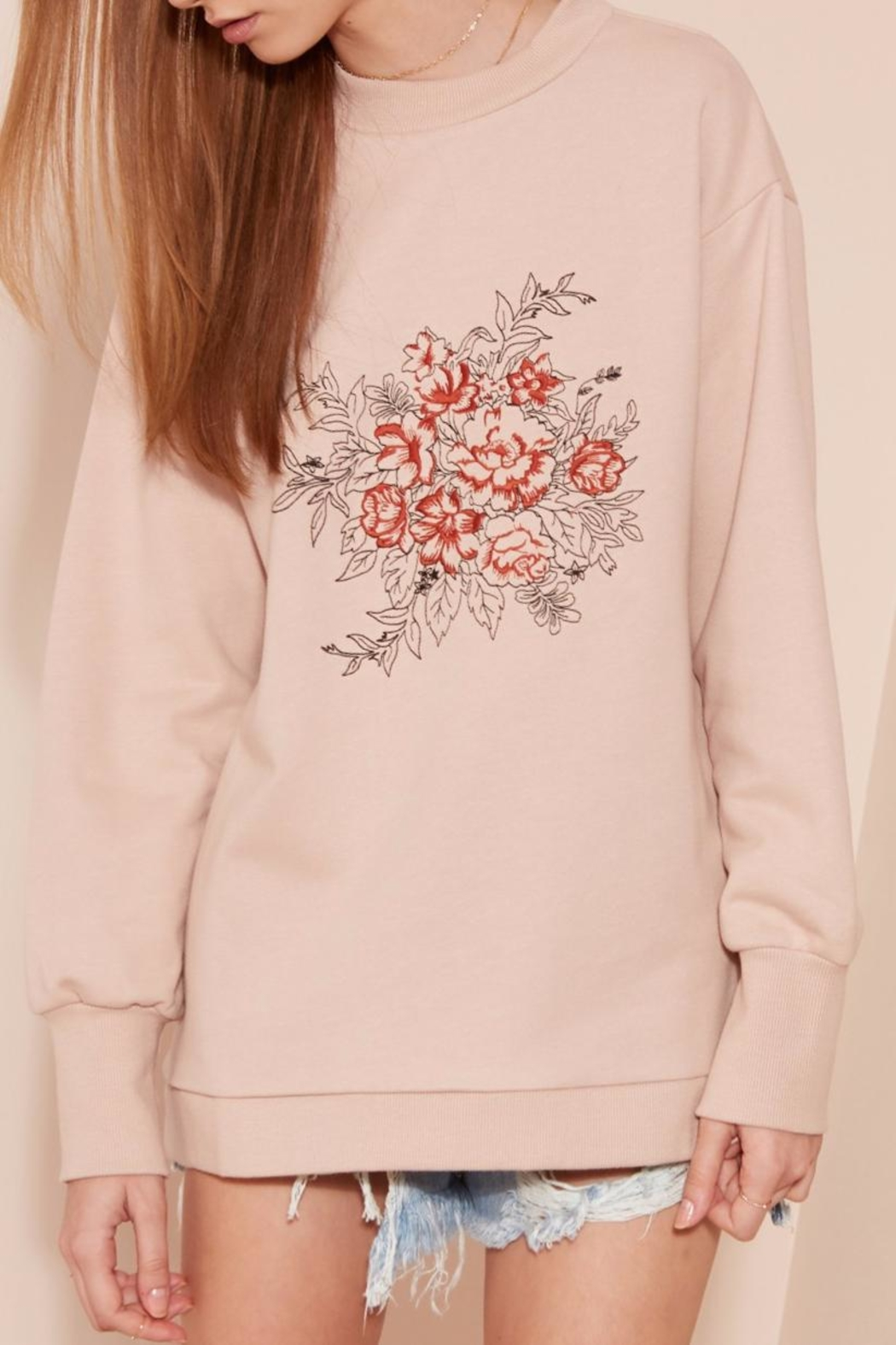 The Fifth Label Embroidered Back-Cut-Out Sweatshirt - Main Image