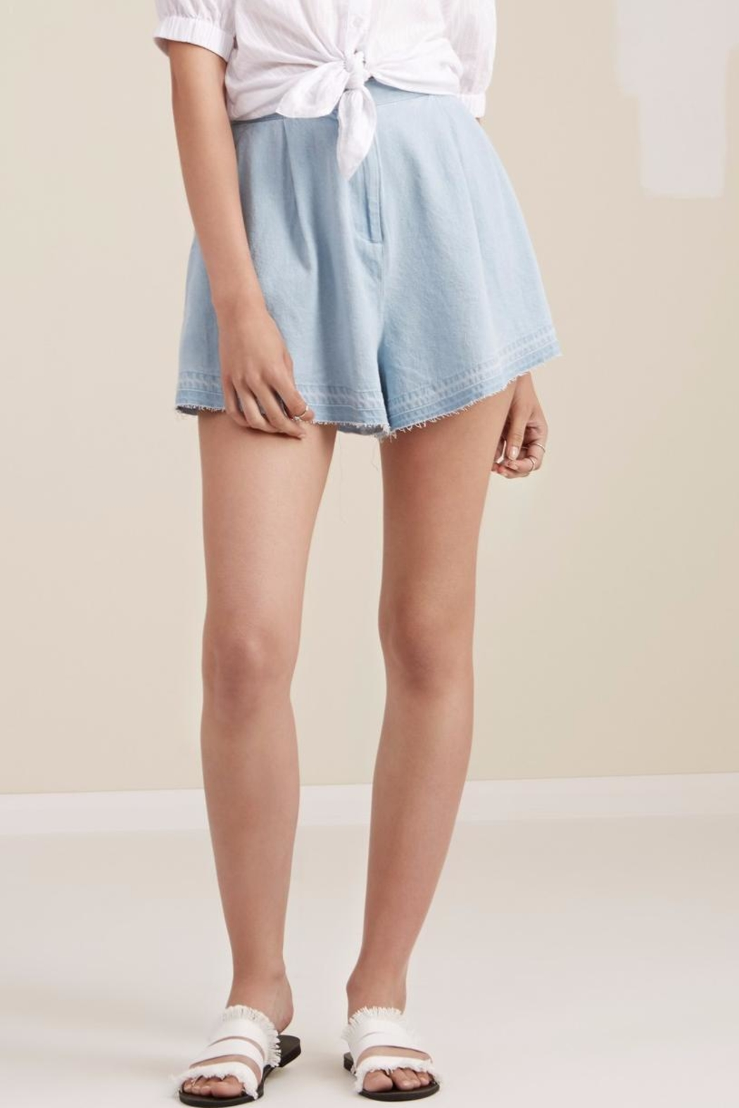The Fifth Label Flared Denim Shorts - Main Image