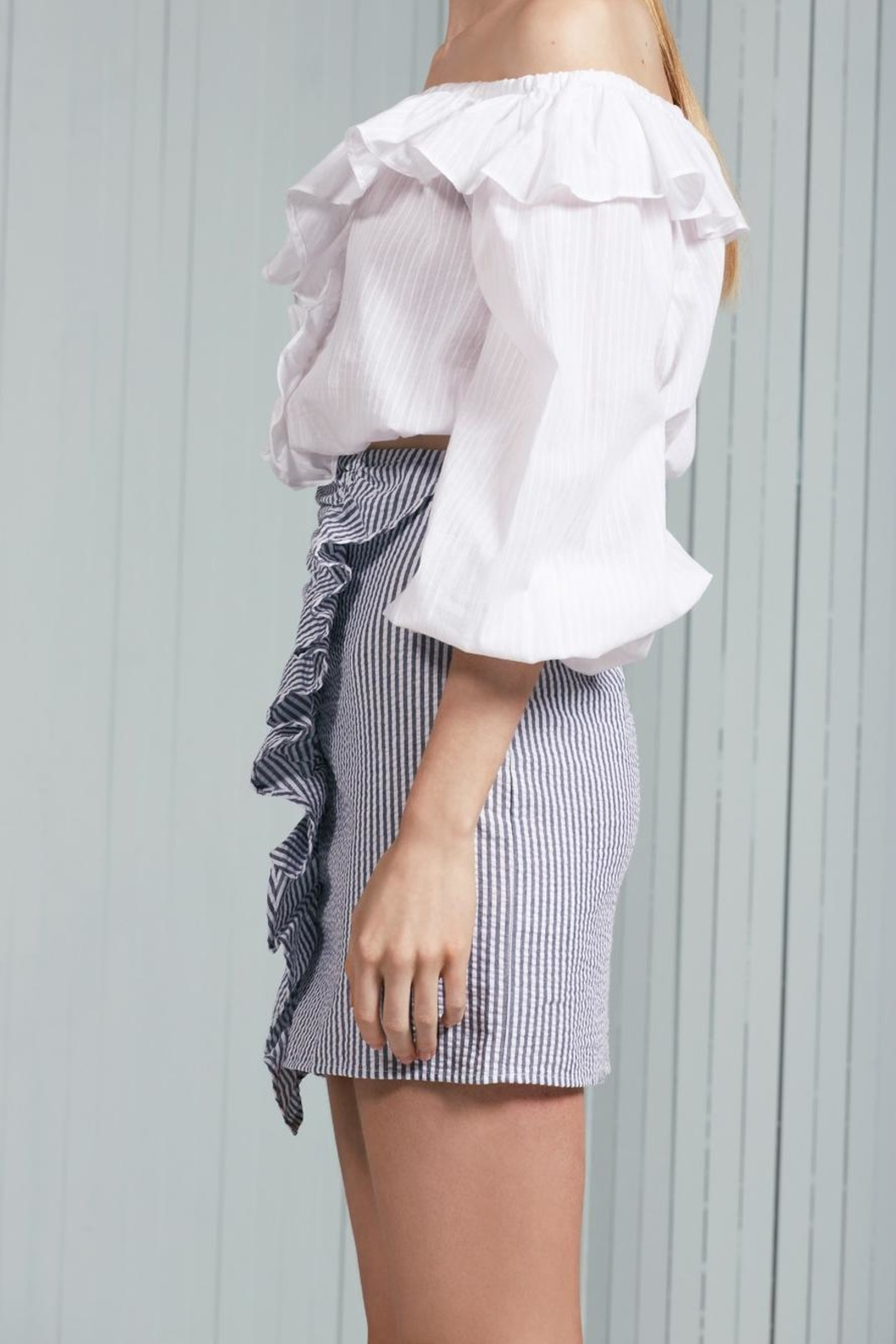 The Fifth Label Ruffle Striped Skirt - Front Full Image