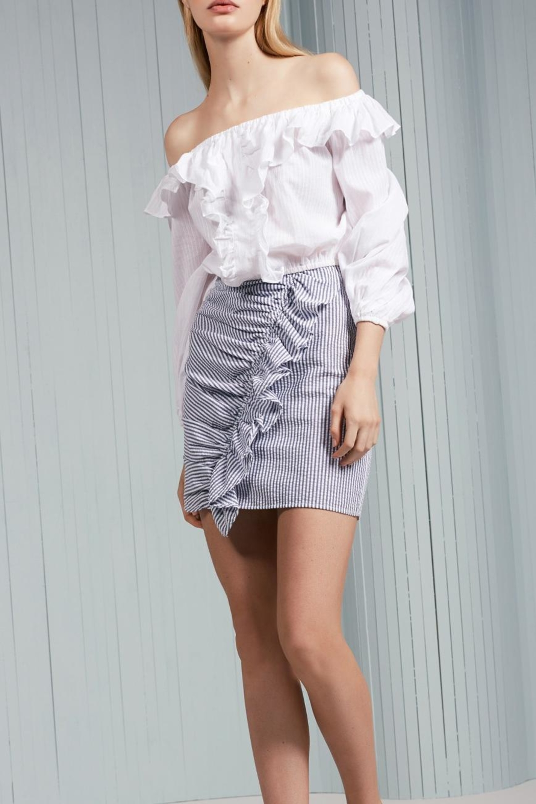The Fifth Label Ruffle Striped Skirt - Main Image
