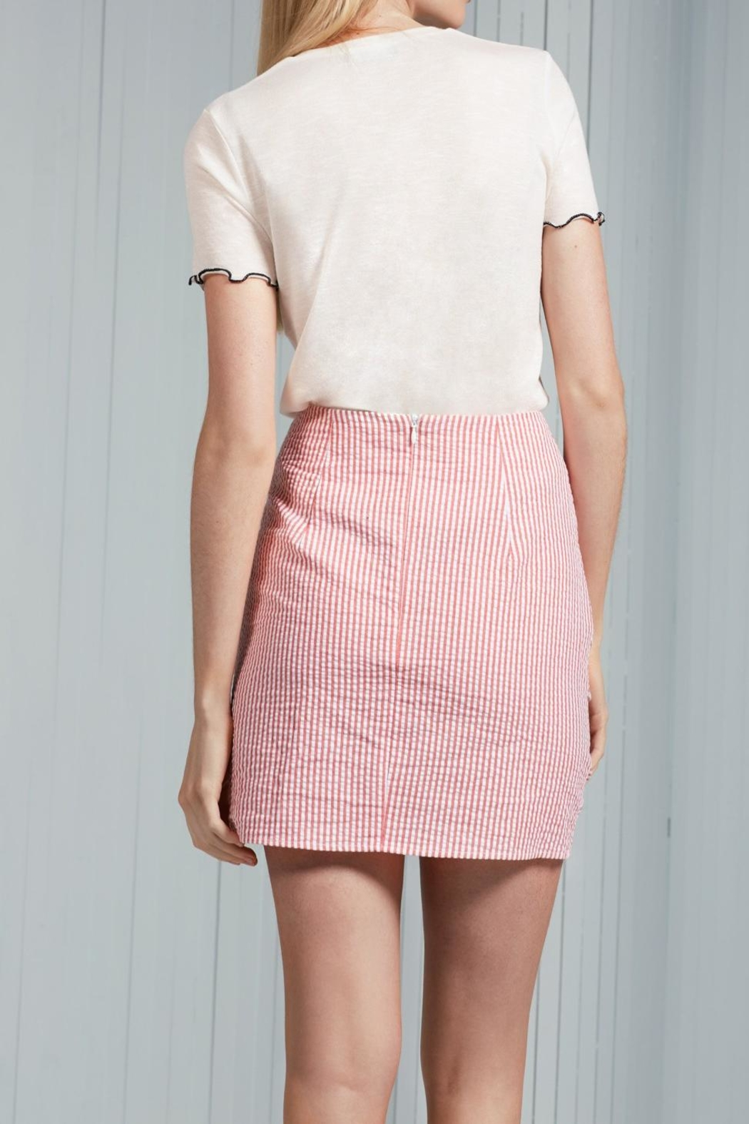 The Fifth Label Ruffle Striped Skirt - Side Cropped Image