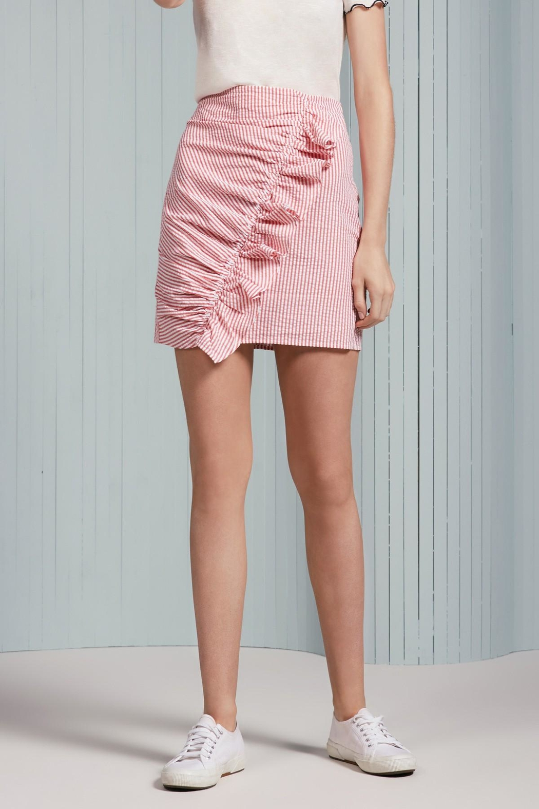 The Fifth Label Ruffle Striped Skirt - Front Cropped Image
