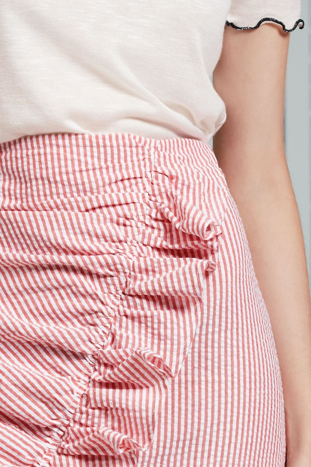 The Fifth Label Ruffle Striped Skirt - Back Cropped Image