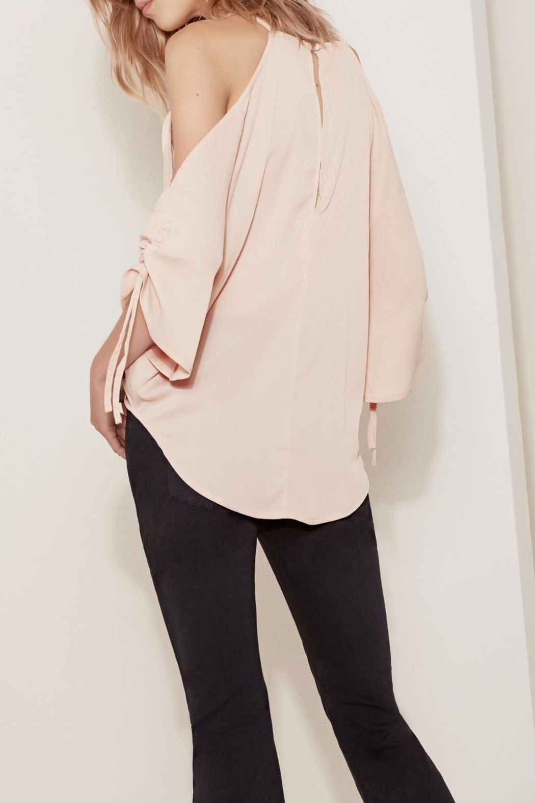 The Fifth Label Tie-Sleeve Cold-Shoulder Top - Side Cropped Image