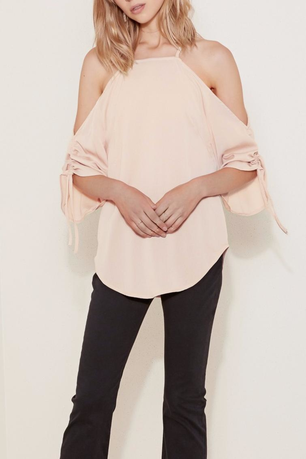 The Fifth Label Tie-Sleeve Cold-Shoulder Top - Main Image