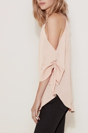 The Fifth Label Tie-Sleeve Cold-Shoulder Top - Front full body