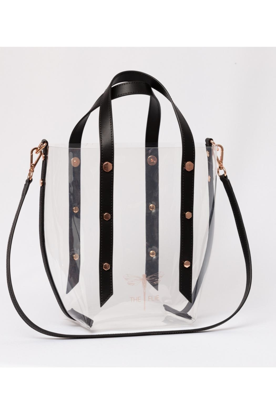 The Flie Tailgate Clear Tote - Front Cropped Image