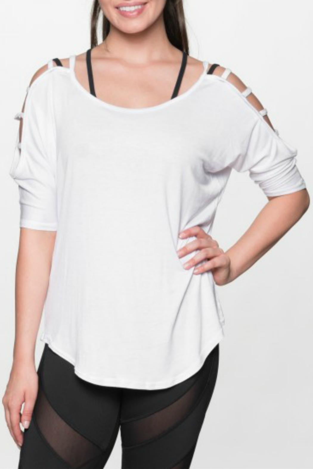 THE FREE YOGA Rocker Ladder Sleeve Top - Front Cropped Image