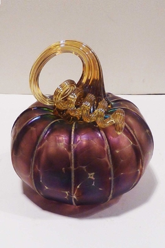 The Furnace: A Glassworks  Amethyst Glass Pumpkin - Product List Image