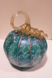 The Furnace: A Glassworks  Aqua Glass Pumpkin - Product Mini Image
