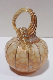 The Furnace: A Glassworks  Ivory Glass Pumpkin - Product Mini Image