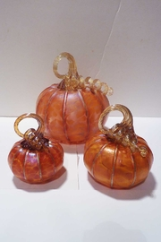 The Furnace: A Glassworks  Tangelo Glass Pumpkin - Back cropped