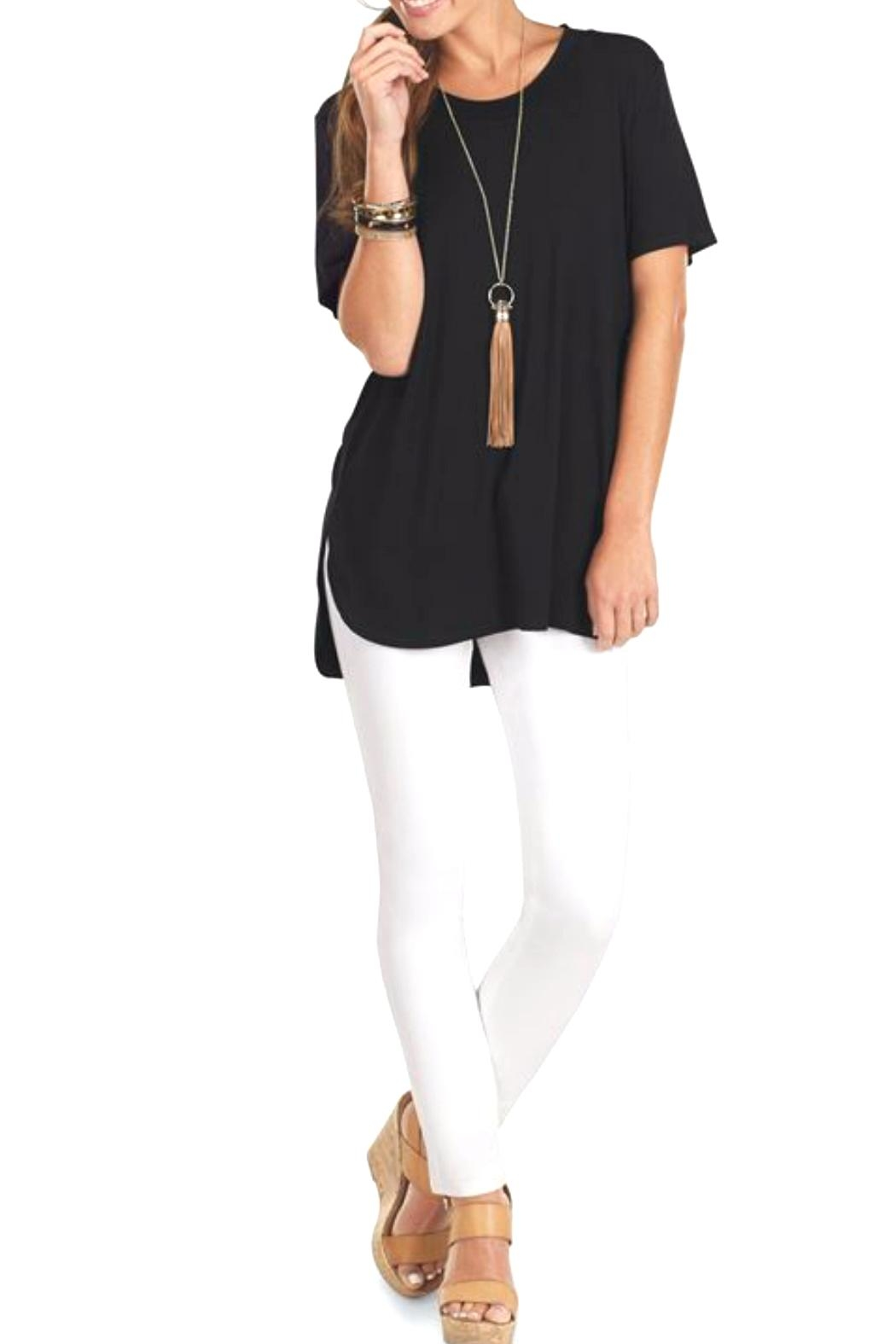 The Gift Pod Black Jersey Tunic - Front Cropped Image