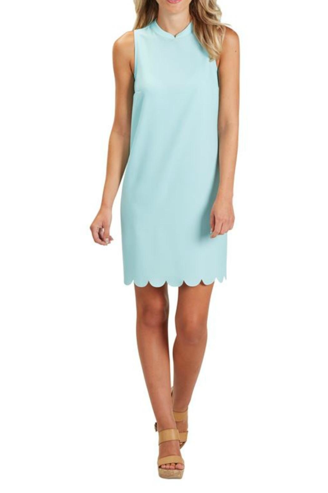 The Gift Pod Blue Scallop Dress - Main Image