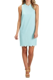 The Gift Pod Blue Scallop Dress - Front cropped