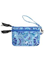 The Gift Pod Blue Tech Wristlet - Front cropped