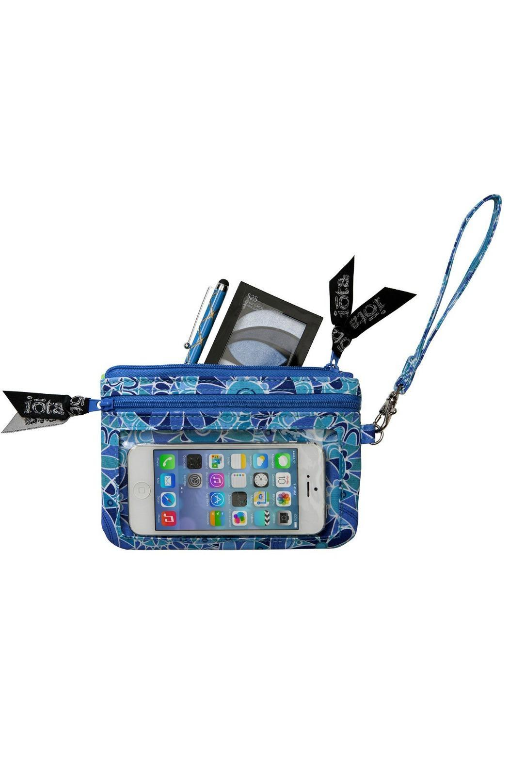 The Gift Pod Blue Tech Wristlet - Front Full Image