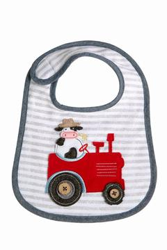 The Gift Pod Cow Tractor Bib - Alternate List Image