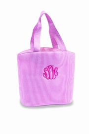 The Gift Pod Pink Seersucker Bag - Product Mini Image