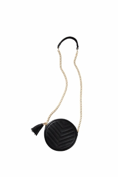 The Gift Pod Round Black Crossbody - Product List Image