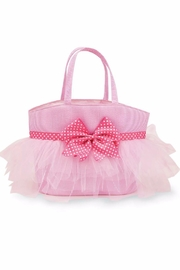 The Gift Pod Seersucker Tulle Tote - Front cropped
