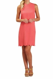 The Gift Pod Watermelon Scallop Dress - Product Mini Image
