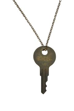 The Giving Keys Classic Brass Necklace - Product List Image