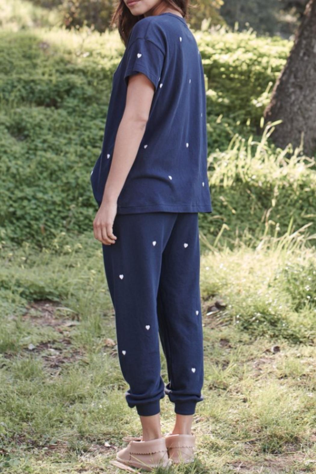The Great Boxy Crew In Navy With Heart Embroidery - Side Cropped Image