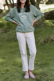 The Great College Sweatshirt With Crest Graphic - Product Mini Image