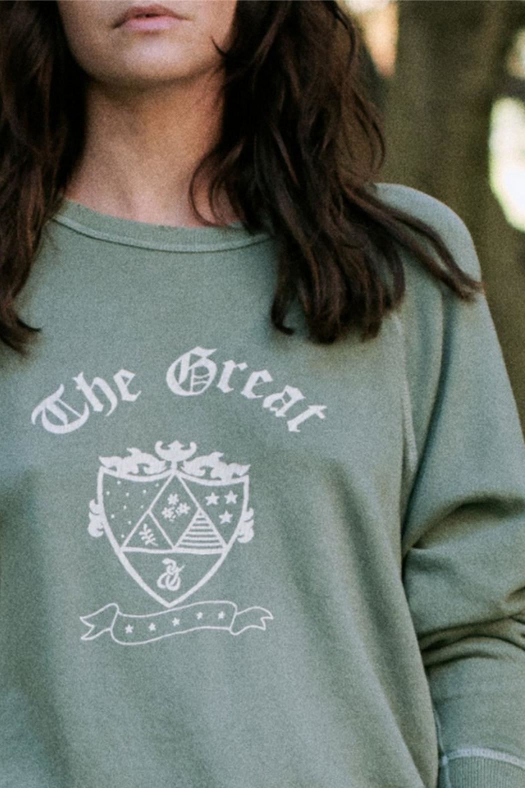 The Great College Sweatshirt With Crest Graphic - Side Cropped Image