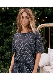 The Great Cut Edge Tee Navy Floral - Product Mini Image