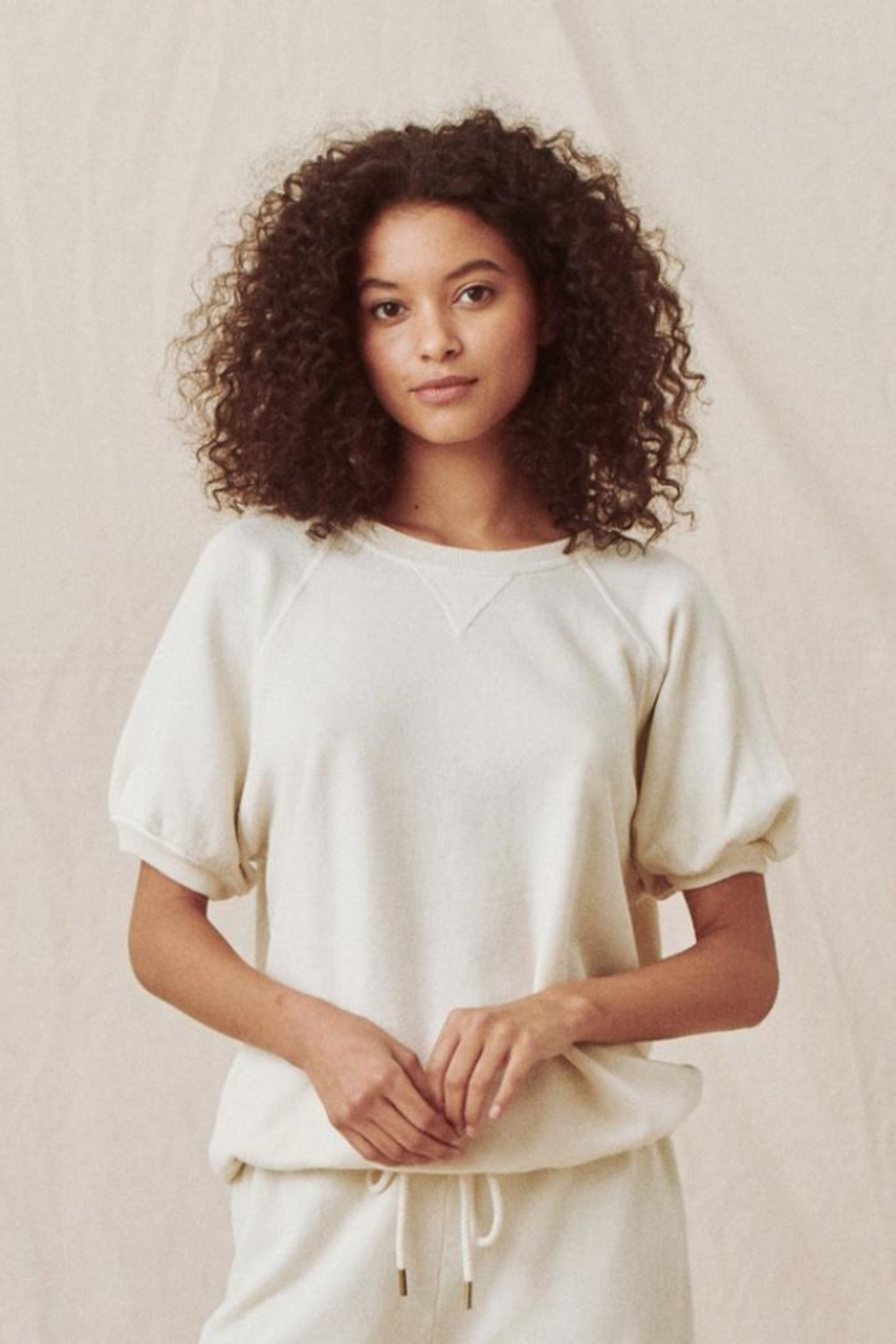 The Great Puff Sleeve Sweatshirt - Front Cropped Image