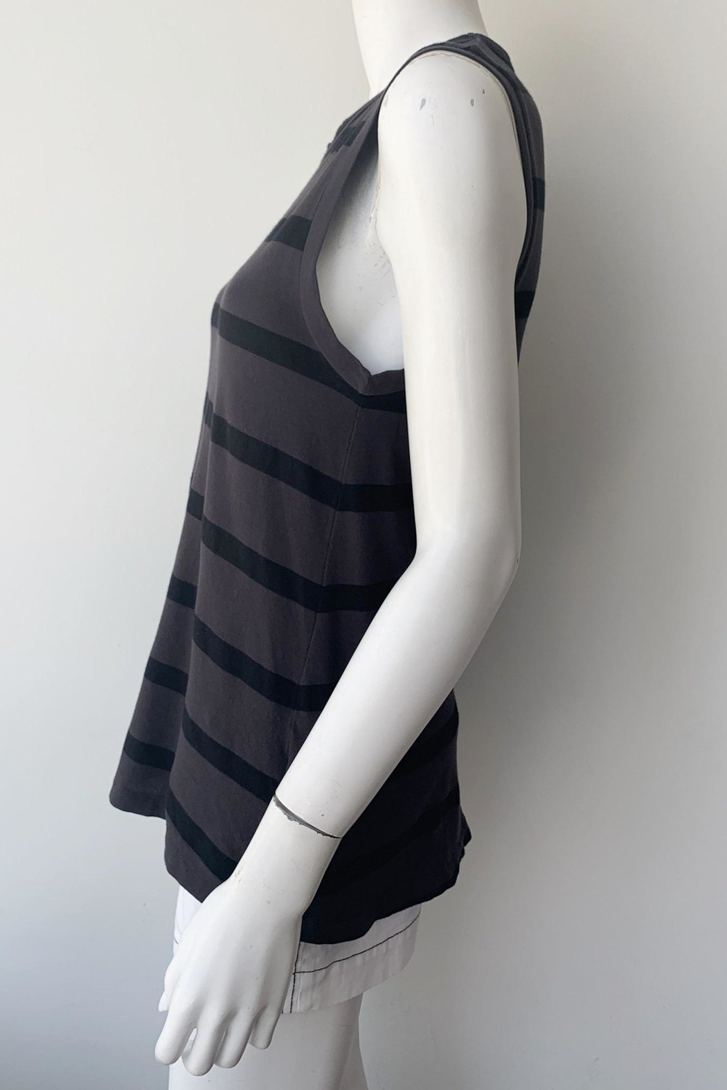 The Great Sleeveless Striped Crew - Side Cropped Image
