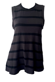 The Great Sleeveless Striped Crew - Front cropped