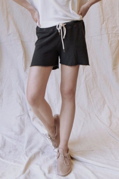 Shoptiques Product: Sweat Short In Washed Black