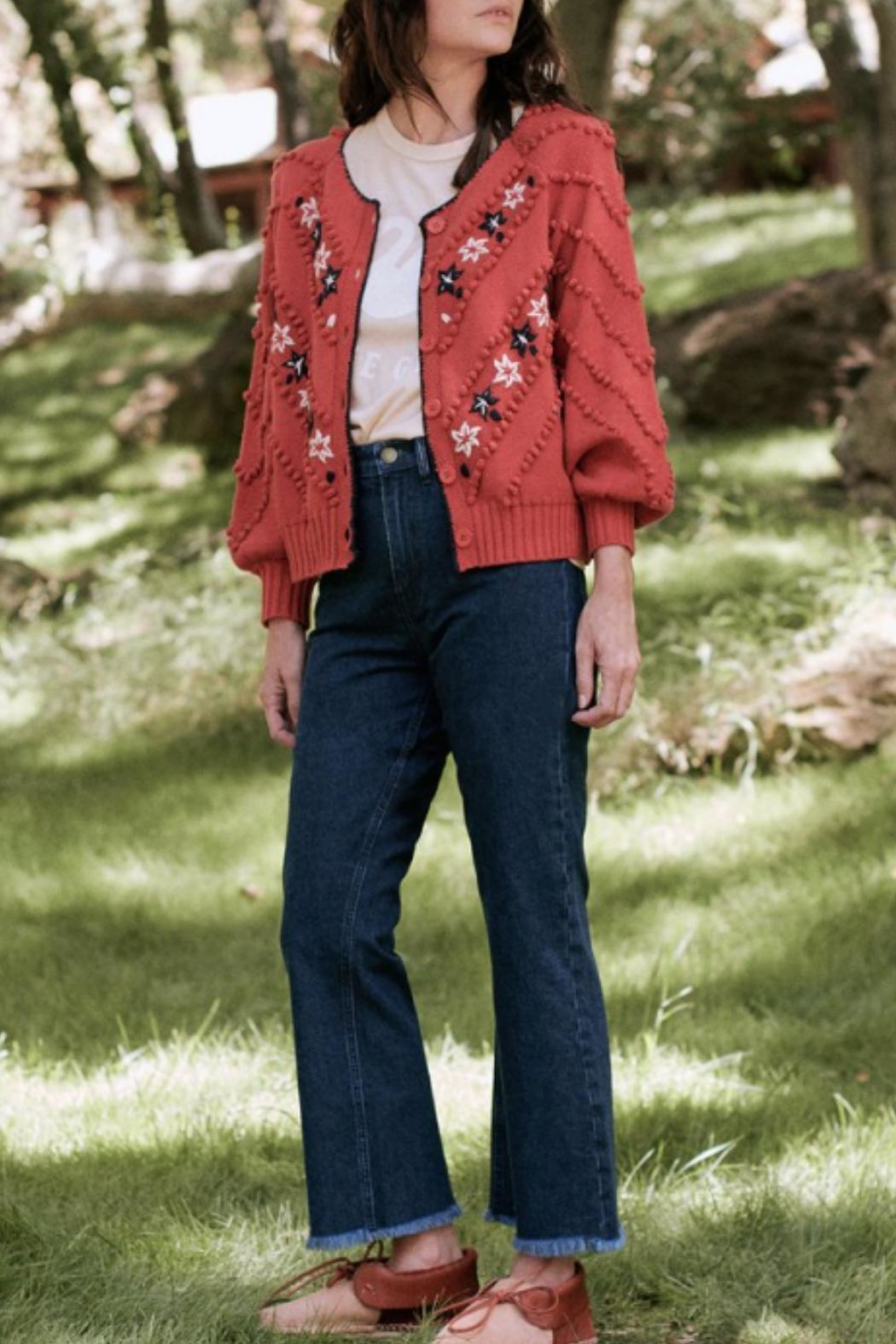 The Great The Meadow Bobble Cardigan - Side Cropped Image