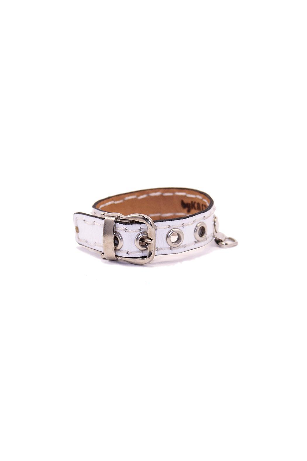 The Habit: Art! Buckle Leather Bracelet - Front Cropped Image