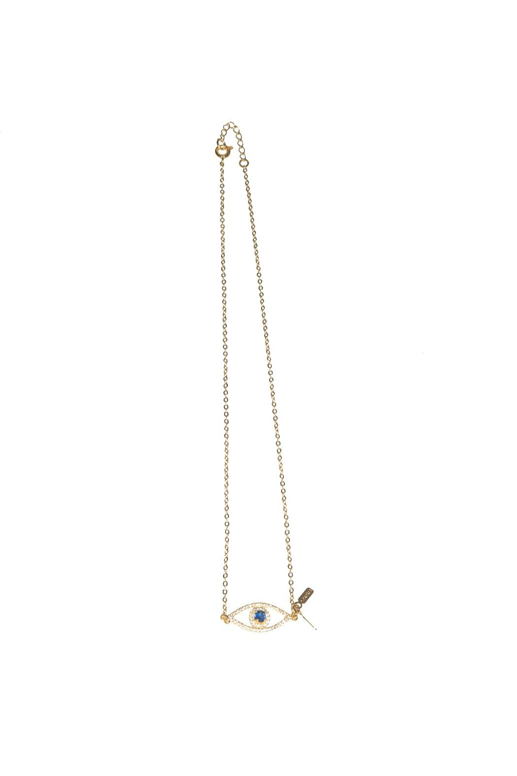 The Habit: Art! Evil Eye Choker Necklace - Front Cropped Image