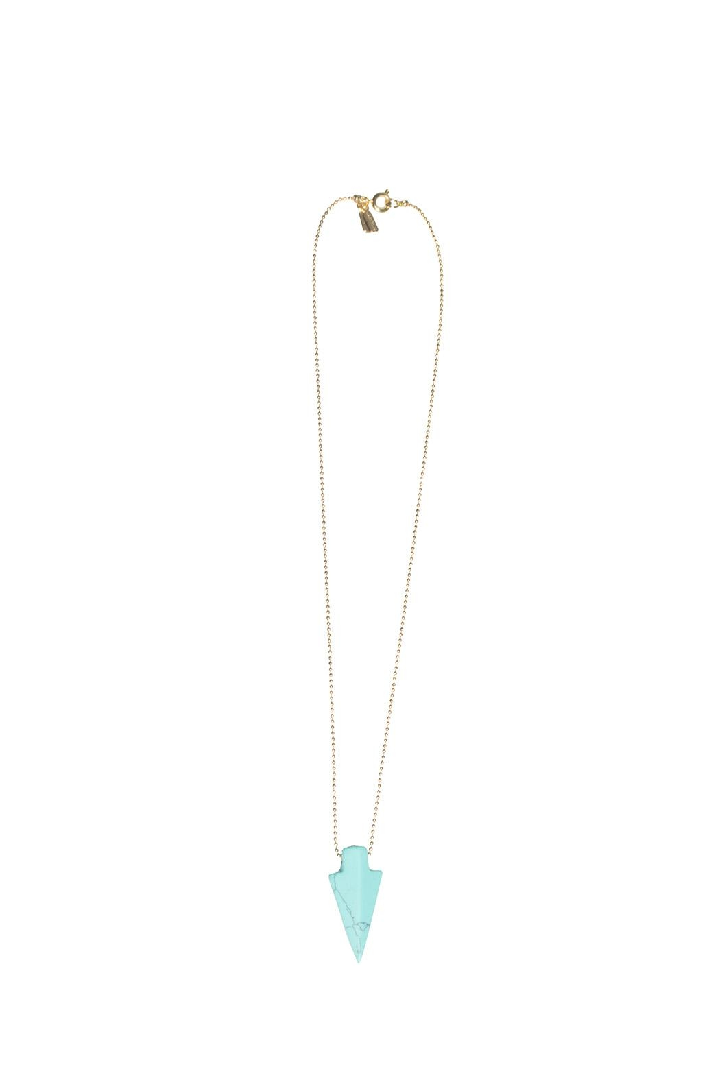 The Habit: Art! Turquoise Choker Necklace - Front Cropped Image