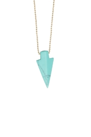 The Habit: Art! Turquoise Choker Necklace - Front full body