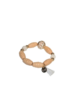 Shoptiques Product: Wood Beads Elastic Bracelet