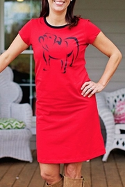 The Haley Boutique Bulldogs Gameday T-Dress - Front cropped