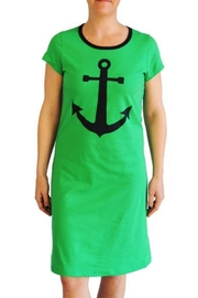 The Haley Boutique Green Anchor T-Dress - Product Mini Image