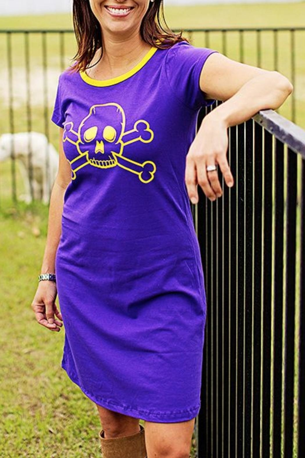 The Haley Boutique Pirates Gameday T-Dress - Main Image