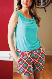 The Haley Boutique Red Bamboo-Elephant Shorts - Front cropped