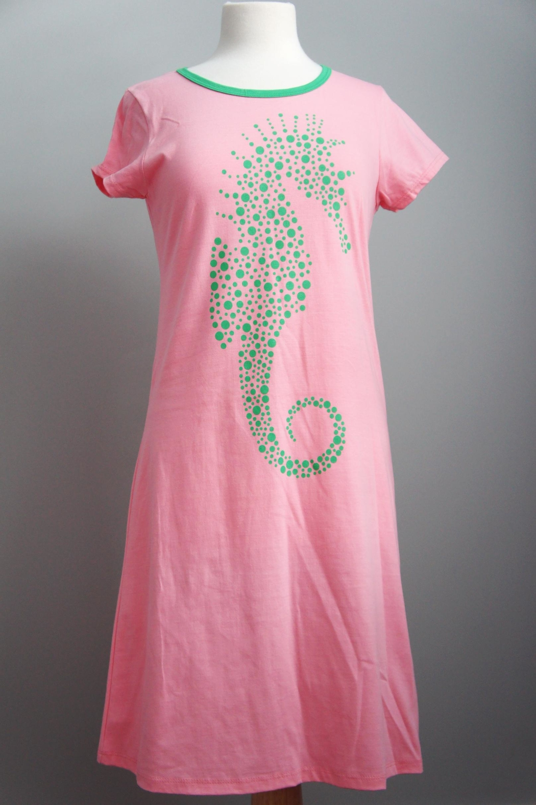 The Haley Boutique Seahorse Preppy T-Dress - Front Cropped Image