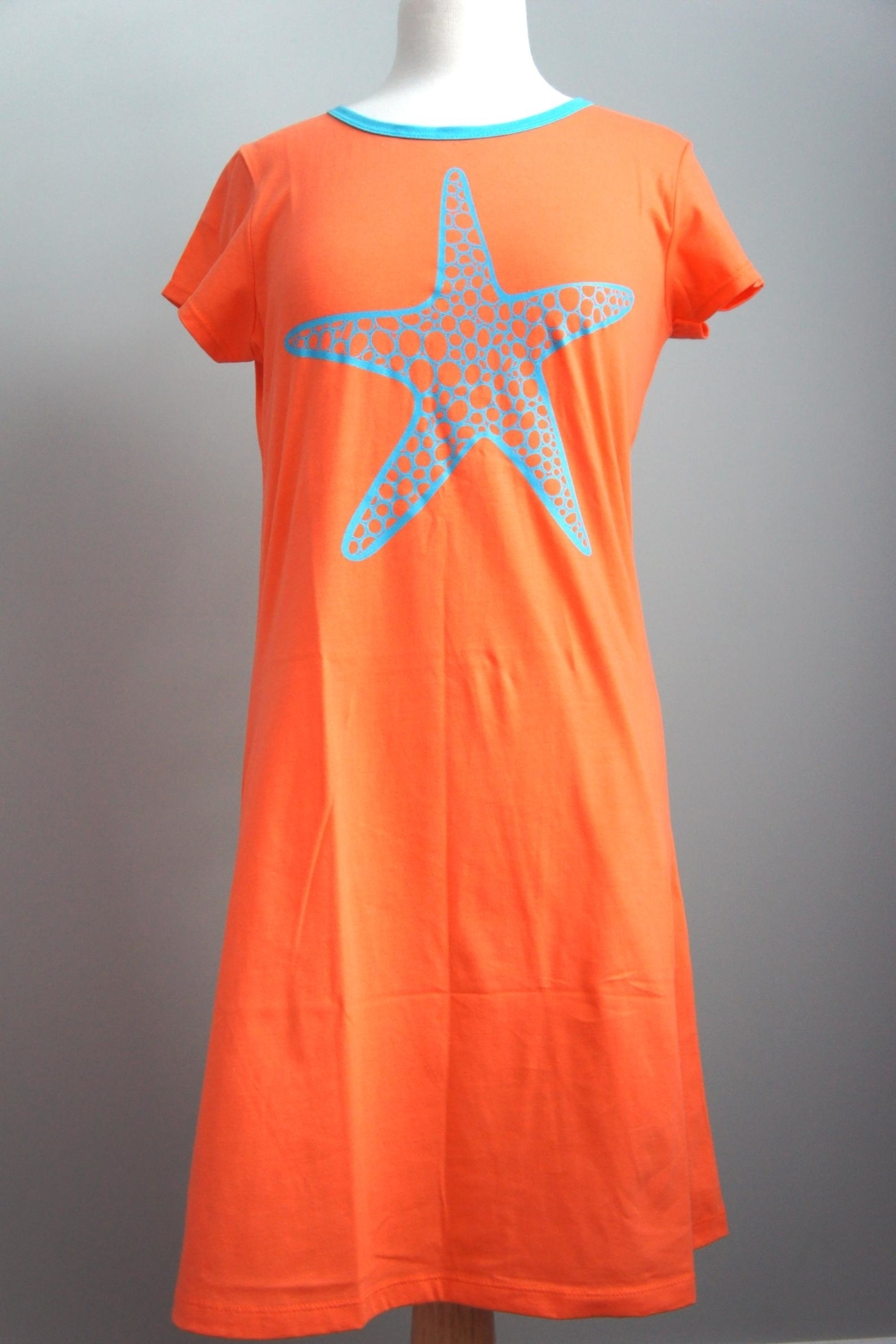 The Haley Boutique Starfish Preppy T-Dress - Main Image