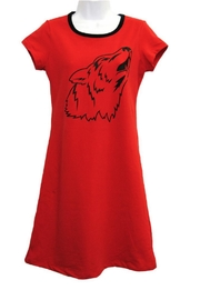 The Haley Boutique Wolfpack Gameday T-Dress - Front cropped
