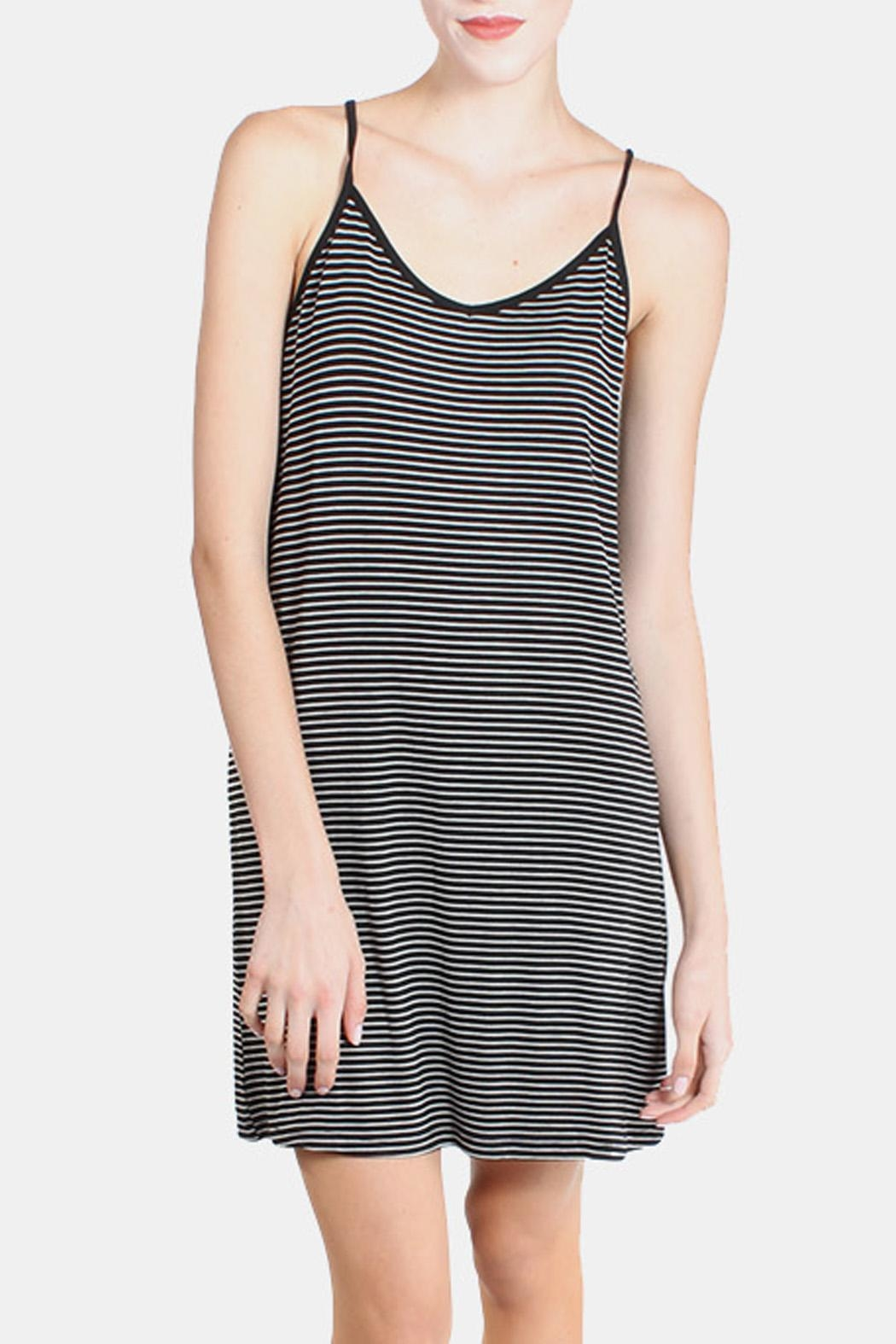 the Hanger Black Striped Cami Dress - Main Image