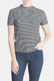 the Hanger Striped Mock Neck Top - Product Mini Image
